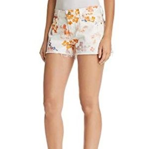 7 For All Mankind Women's Floral Cut Off Shorts